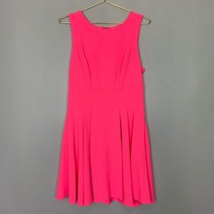 Gianni Bini Hot Neon Pink Tank Dress Large
